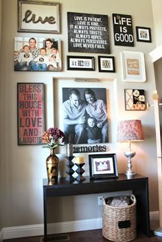 The Grey Home: Decorating houses with gallery wall : 18 gallery wall ideas. & make a canvas with song lyrics on it and place it in your cluster of ...