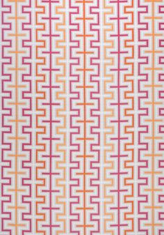 ZIPPER, Peony and Orange, W80333, Collection Calypso from Thibaut