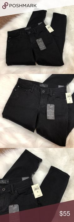 "Lucky Brand Lolita Skinny Destructed Jeans, 2/26 Brand: Lucky Brand Size: 2/26 Material: 83% Cotton, 15% Polyester, 2% Spandex Condition: Brand new with tags  Approx. Measurements Waist: 28"" Length: 36"" Inseam: 28""  Tags: ankle, ripped, distressed, black, torn Lucky Brand Jeans Skinny"
