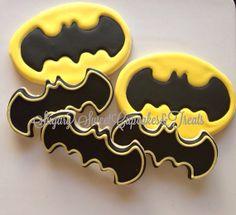 Batman cookies (12cookies) on Etsy, $38.00