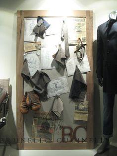 Brunello Cucinelli - London - Nov. 2012  via retailstorewindows.com