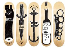 BAKN DECK DESIGN by Kristian Bakken in Showcase of Cool and Unusual Skateboard…