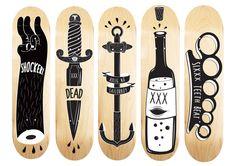 BAKN DECK DESIGN by Kristian Bakken in Showcase of Cool and Unusual Skateboard Designs