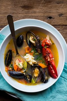 Bouillabaisse is a traditional Provençal (Southeast France) stew, typically made with fish and shellfish. Although it was originally made with rockfish, today it's also made with all sorts of…