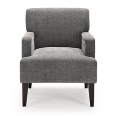 darcy charcoal grey metal frame arm chair