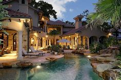 Stone, Mediterranean, Rustic, French, Arched