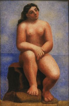 Pablo Picasso / Nude Seated on a Rock