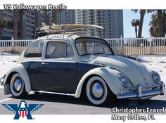 """Every week, American Collectors Insurance (www.americancollectors.com) picks a """"Cool Ride of the Week"""" from customer submitted photos. Then, once a year, customers and friends vote to pick their favorite from among the 52 previous weekly winners. The 2011 winning vehicle was a cream and black two-tone 1965 Volkswagen Beetle."""