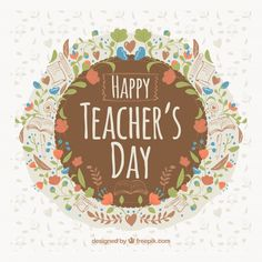 Happy Teachers Day Card, Wishes For Teacher, Teachers Day Poster, Teacher Thank You Cards, Ganesha Pictures, 257, Teachers' Day, Teacher Quotes, Flower Prints