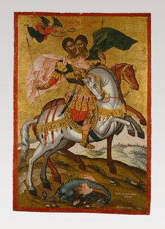 Byzantine Icons, Byzantine Art, Christian Artwork, Biblical Art, Art Icon, Saint George, Religion, Anna Martin, Jesus Christ