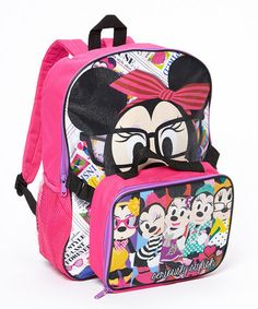 Another great find on #zulily! Minnie Mouse Glasses Backpack & Lunch Box Set by Global Design #zulilyfinds