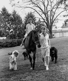 Kathleen with Dad and dogs at Hickory Hill. Ethel Kennedy, Robert Kennedy, Hickory Hills, Old English Sheepdog, American Presidents, Bobby, Virginia, Couple Photos, Dogs