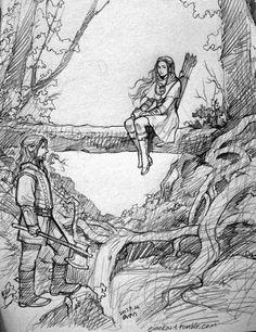 Fantasy Drawings, Fantasy Artwork, Art Drawings, Character Drawing, Character Design, Manga Art, Anime Art, O Hobbit, Different Art Styles