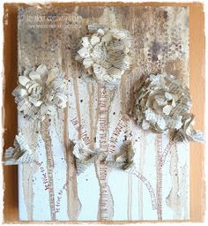 DIY:  Gallerie Canvas - info on how this wall canvas was created - using stain, paint, leftover materials, etc.
