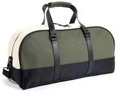 Travel Bag - Green / Sand | RAINS | Modern design rainwear and bags, (Use for camping and Airstream - would be a great gym bag)