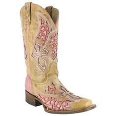 Corral Women's Square Toe Wing and Cross Inlay Western Boots
