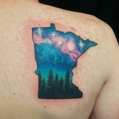 Mike gave this tattoo a little once-over to brighten up the stars and bring out the colors even more. Nothing like a little Minnesota love.
