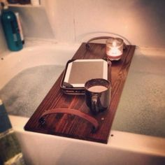 Hubby must make for me.  Mother's day??  Wooden bath table