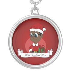 Christmas boy cartoon jewelry