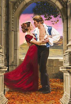 Romance book cover art, Historical romance cover novel cover art, romantic painting; paintings; couples; lovers; romance; art; artist; man; woman; beautiful; beauty; romance novel inspired; sexy; seductive; erotic