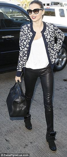Miranda Kerr Wedge Sneakers Celebrity Style Women's Fashion by How Celebs Wear It, via Flickr