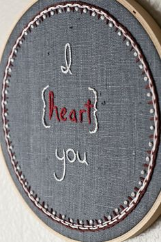 so many possibilities! cute for any room with any fabric and color of thread...and any quote!