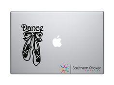 Macbook - Dance shoes with text Macbook Symbol Keypad Iphone Apple Ipad Decal Skin Sticker Laptop Southern Sticker Company http://www.amazon.com/dp/B00G6SFTCO/ref=cm_sw_r_pi_dp_MvTUtb0YHRTSH9S2
