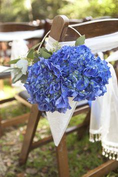 vintage wedding aisle decorations | Hydrangea-Wedding-Ceremony-Aisle-Chair-Decor