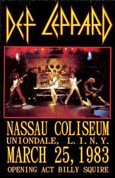 Def Leppard - Nassau Coliseum 1983 - Mini Print