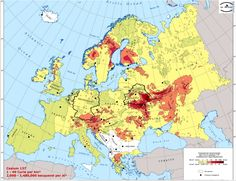 Radioactive fallout from Chernobyl disaster in Curie/km2 [1101x846] - Imgur