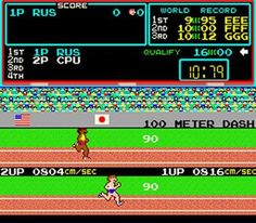Anybody else remember the old Track and Field video game that use to be in the arcade. I remember slapping those buttons on that game trying to get my character to run faster until I had sores on my fingers and hands. Use to love that game! 80s Video Games, Classic Video Games, Isaac Newton, Donkey Kong, Track And Field Games, Track Field, Street Fighter Ii Turbo, Orlando, Retro Arcade Games