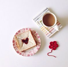 .toast letter with LOVE