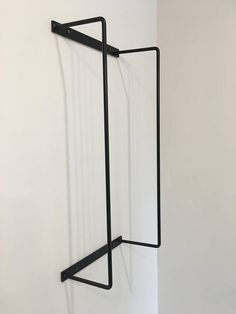 Informations About Metal Bath Towel Holder - Powder Coated Matte Black- Solid Steel Pin You can easi Bathroom Towel Storage, Bathroom Towels, Bath Towels, Bath Towel Decor, Bathroom Organization, Bathroom Mirrors, Bathroom Cabinets, Wall Shelving Systems, Bathroom Assessories