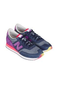 EXCLUSIVE New Balance x Bergdorf Goodman 620 Suede   Woven Trainer -  Pink Purple Blue b78fa9d9eeb