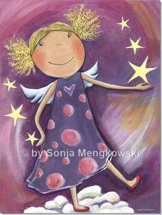 Kinderzimmer Bild Blonder Engel