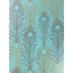 Buy Osborne & Little Peacock Wallpaper, Jade / Antique Gold,  W6541-02 Online at johnlewis.com