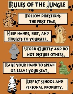 Classroom Rules: Jungle Theme