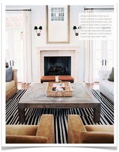 rug + giant coffee table