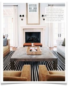 rug + giant coffee table