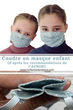 Selon les professionnels de la santé, le masque barrière est conseillé à partir de l'âge de sept ans. Le 27 avril 2020, l'AFNOR a mis à disposition du public un patron pour coudre un masque en tissu destiné aux juniors de plus de sept ans. Voici un tutoriel complet et en images pour coudre facilement le masque recommandé.  #masquebarriere #masqueenfant #masqueafnor