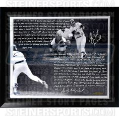 Bucky Dent Facsimile 'Walk-Off Home Run vs. Boston' Stretched Framed 22x26 Story Canvas