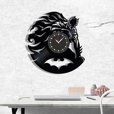 Batman vinyl record clock, wall clock Batman, Best Gift for Decor #batman #homedecor #walldecor #clock #wallclock #vinyl #gifts #giftideas #giftsforher #giftguide #giftwrap