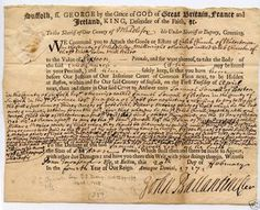 Salem witch trial document