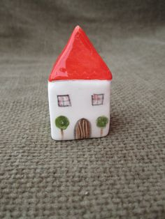 Litte Ceramic HouseLittle Clay HouseCute Small by TatjanaCeramics