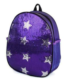Loving this Purple Star Sequin Backpack on #zulily! #zulilyfinds