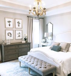 Cool French Country Master Bedroom Design Ideas With Farmhouse Style 08 Country Master Bedroom, French Country Bedrooms, French Country House, Master Bedroom Design, French Country Decorating, Home Decor Bedroom, Bedroom Designs, Bedroom Furniture, Bedroom Ideas