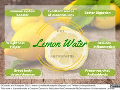 Top 7 Health Benefits of Lemon Water | Crystals And Catalysts Chemistry Blog