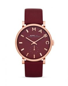 Marc by Marc Jacobs #marcjacobs Marc by Marc Jacobs Baker Strap Watch, 36.5mm