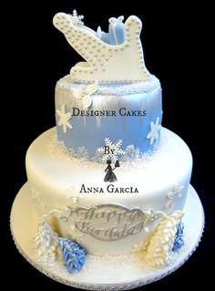 Winter Wonderland Birthday  - Cake by Designer Cakes by Anna Garcia