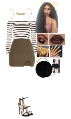 """""""Untitled #988"""" by medinea ❤ liked on Polyvore featuring Topshop, Charlotte Russe, River Island, Giuseppe Zanotti, Eddie Borgo and Kate Spade"""